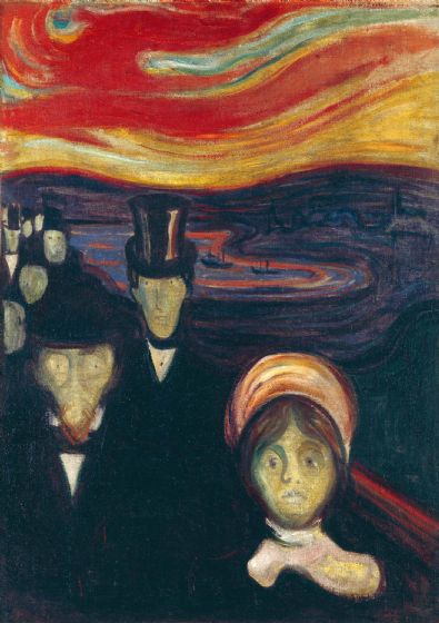 Munch, Edvard: Anxiety. Fine Art Print/Poster. Sizes: A4/A3/A2/A1 (0073)